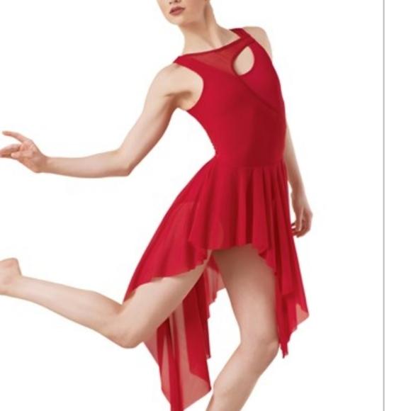 NWOT BALERA Dancewear Red Dance Costume